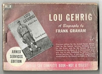 1942 Lou Gehrig (HOF) Promotional Booklet by Frank Graham