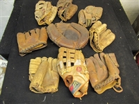 1950s - 60s Baseball Glove Lot of (9) - All Good Stuff