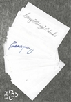 St. Louis Browns Autographed Index Cards - Lot of (14)
