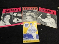 1940s/50s Baseball Publication Lot Of (4)