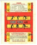 1933 Sports Kings Wax Pack Wrapper