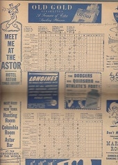 1946  National League Play-Off Series (Cardinals vs. Dodgers) Official Program with Ticket Stub