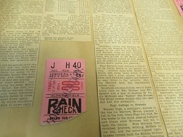 1930 Brown University (NCAA) Baseball Lot of (2) Ticket Stubs with Accompanying Scrapbook Page